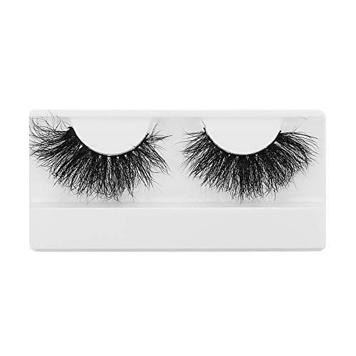 SKONHED 1 Pair Woman's Fashion Wispies Fluffies Natural Long Criss-cross 100% 3D Mink Hair 25mm Lashes Lash Extension False Eyelashes(DS151)