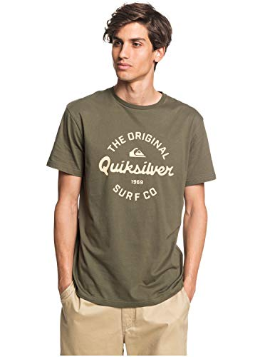 Quiksilver Eye On The Storm - T-shirt pour Homme T-shirt Homme, Vert (kalamata), FR : XL (Taille Fabricant : XL)