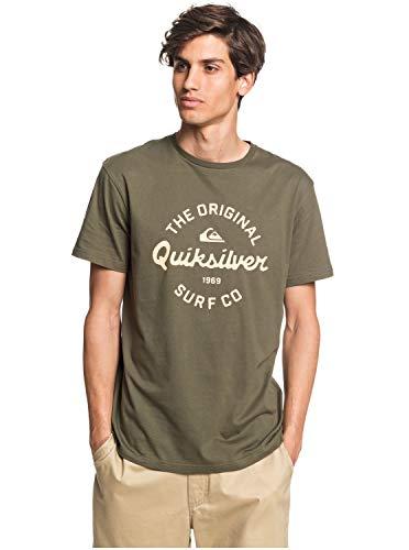 Quiksilver Eye On The Storm - Camiseta para Hombre Screen tee, Hombre, Kalamata, L