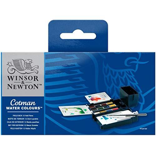 Aquarela Winsor & Newton Cotman 12 Cores Field Box Winsor & Newton, 12 Cores