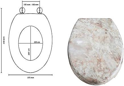 takestop Universal-WC Effekt Marmor pink Sitz WC Tasse Deko f/ür Bad WC Sitz Water /Übertopf