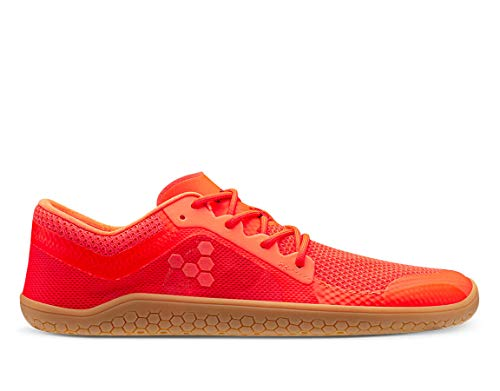 Vivobarefoot Primus Lite Womens, Vegan Light Movement Breathable Shoe with Barefoot Sole Neon Red