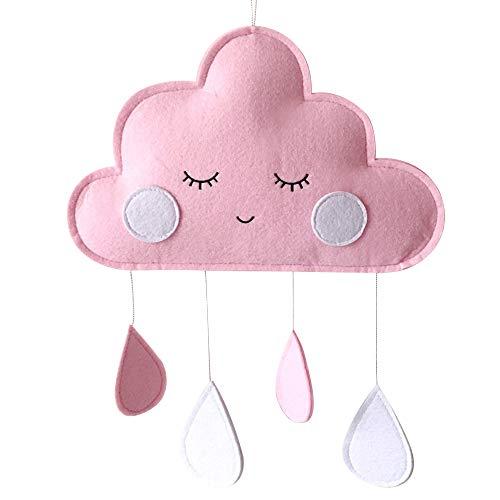 Chanhan Regentropfen-Anhänger Nordischer Wind Kinderzimmer Krippe Deko Kinderzimmer Filz Wolke Regentropfen Anhänger Hänger Ornament