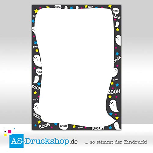 Designpapier Geister - Gespenster - Party / 100 Blatt/DIN A4 / 90 g-Offsetpapier