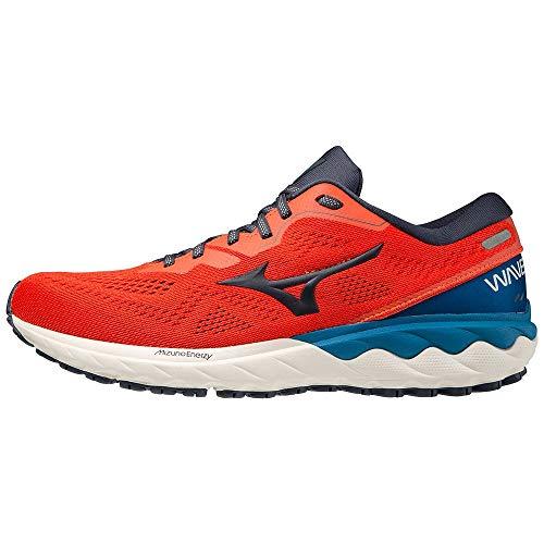 Mizuno Wave SKYRISE 2, Zapatillas de Running Hombre, Mandarin Red/Ombre Blue/Mykonos, 44.5 EU