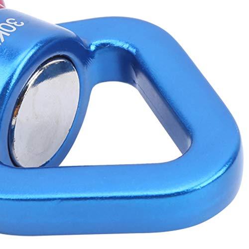 Emoshayoga Conector Giratorio de mosquetón para Exteriores para Deportes(Red and Blue)