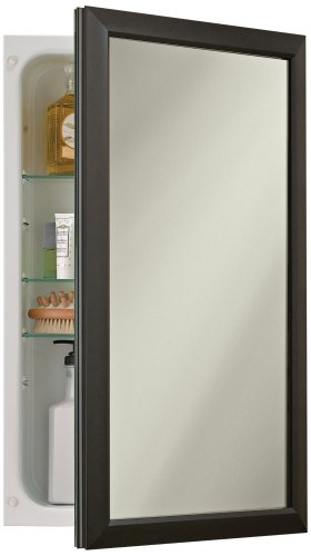 Broan-NuTone 625N244BZC Hampton Recessed and Framed Medicine Cabinet, Oil-Rubbed Bronze
