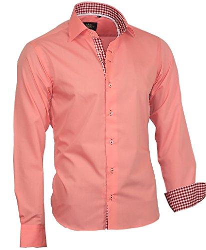 Louis Binder de Luxe 807 Herren Hemd modern lachs 48