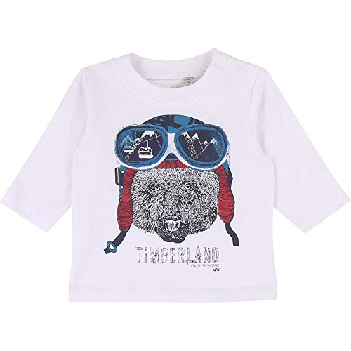 Timberland Bebe - Camiseta de algodón serigrafiado blanco 12 Meses