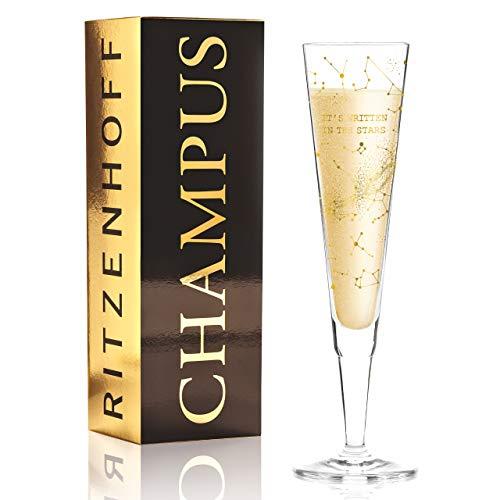 RITZENHOFF 1070266 Champus Champagnerglas, Kristallglas, 200 milliliters, Gold, Platin
