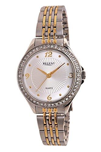 Regent Uhr Damen Edelstahl Armbanduhr Modell DM 3016