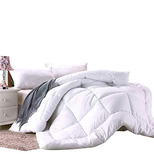 XHHXPY 4-Season Edredón de Fibra Relleno Nórdico Fibra de Poliéster Edredón en Relieve de Color Sólido Súper Suave y Cómodo,Blanco,200 * 230cm