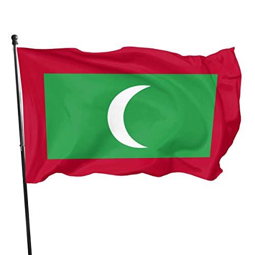 Amerikanische Fuß-Flagge der Fliegen-Brisen-3x5 - die Malediven