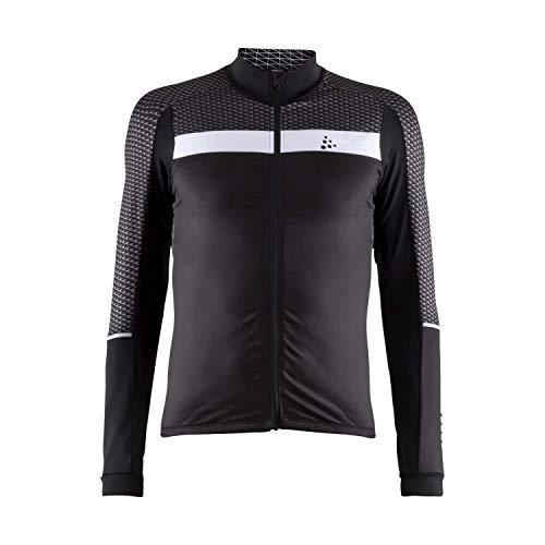 Craft Sportswear Herren Route Jersey Ls M Fahrrad-Trikots, schwarz/weiß, XX-Large