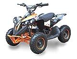 SYX MOTO 36V 800W Kids Mini ATV Bruiser, Dirt Quad Electric Four-Wheeled Off-Road Vehicle,Three Speeds, Reverse Switch, Foot pedal, Orange