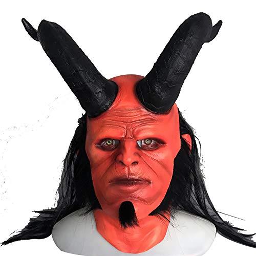 WYJSS Mscara de Horror COS Fiesta de Disfraces de Halloween Novedad Nueva mscara de ltex Thriller Pelcula Vestidos de Disfraces de Halloween,OneSize-Band Angle