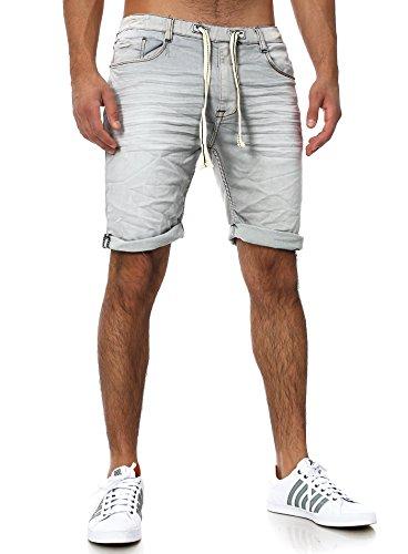 Sweat Jeans Denim Jogger Shorts Sommer Kurze Hose Sublevel 98-86 dunkelblau hellgrau W34