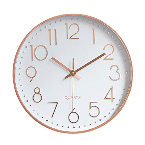 Foxtop Modern Silent Quartz Wall Clock Non-Ticking...