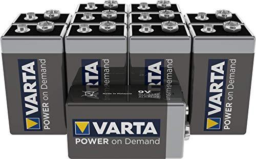 VARTA Power on Demand 9V Block (10er Pack - smart, flexibel und leistungsstark für den mobilen Endkonsumenten - z.B. für Smart Home Geräten, Rauchmelder, Brandmelder)