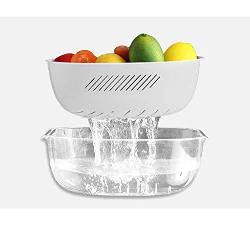 MWG Panier à Fruits Panier à Fruits Double bac de vidange Panier à égoutter Bac de Rangement pour Cuisine (Couleur : B)