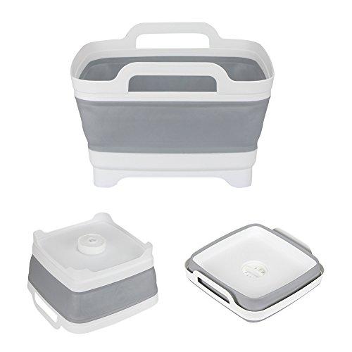 FHzytg Spülschüssel Faltbar, Faltbare Spülschüssel Camping Abwaschschüssel Camping Klappbare Spülschüssel, Abwaschwanne Camping Tragbares Waschbecken Mobile Spülschüssel mit Auslauf