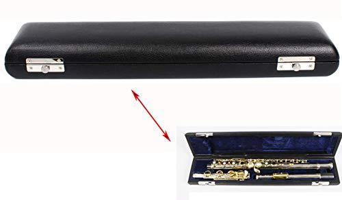 Yinfente 16 agujeros flauta caso 17 agujeros flauta bolsa para flauta de metal proteger llevar flauta superficie de cuero fuerte luz (17 agujeros)