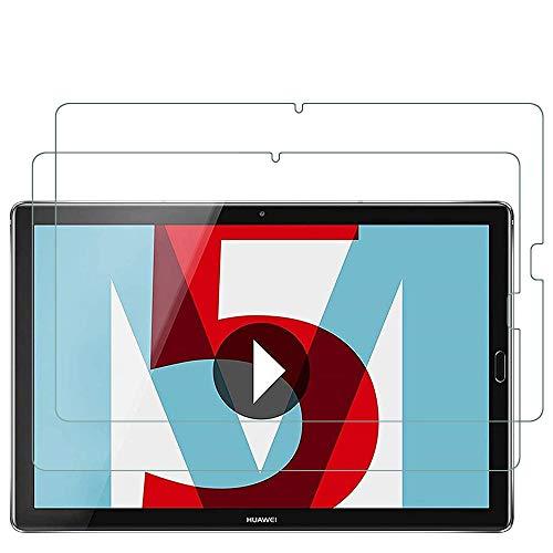 ANEWSIR Schutzfolie Kompatibel mit Huawei MediaPad M5 10.8 / M5 Pro 10.8 Bildschirmschutzfolie, [2 Stück], Anti-Kratzen, Anti-Bläschen, Panzerfolie Schutzfolie Folie für MediaPad M5 10.8/M5 Pro 10.8