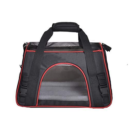 JenLn Personality Transporttasche für Haustiere, mittelgroß, tragbar, für Outdoor-Aktivitäten, Wandern, für kleine Welpen, Hunde, Katzen, Reisetasche Schwarz