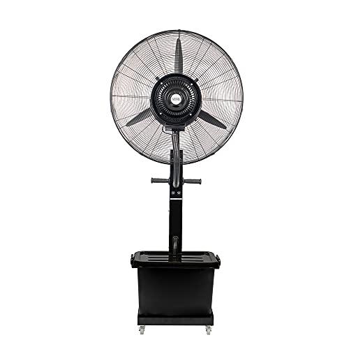 Enrico Coveri Ventilatore Professionale Multifunzione Con Nebulizzatore, Motore 230 Watt a 3 Velocità, Serbatoio Da 40 Litri, Per Esterno, Negozi e Attività Commerciali (Buran)