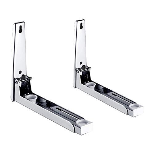 ZSooner - Soporte para horno de microondas ajustable para montaje en pared universal, marco de cocina grueso flotante y telescópico plegable (5)