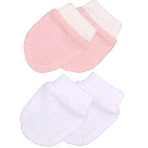 Niccolas B Babyprem Vorzeitige Baby-Kleidung 2 Paar Kratzhandschuhe 32-50cm ROSA P3