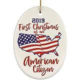 Lplpol Adorno de Navidad residente permanente 2020, nuevo inmigrante estadounidense permanente, regalo de residencia permanente colgante de Navidad, ha1574