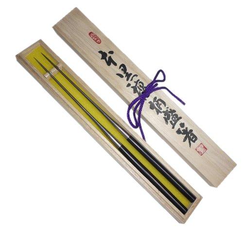 金口製作所『本焼ステンレス黒檀柄盛箸』