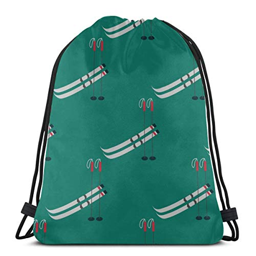 AEMAPE Skiing Extreme Sports Entertainment Trash Bag Drawstring Camera Bag Drawstring Youth Drawstring Bag For Gym Outdoor Travel