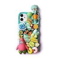 SpongeBobクリーム携帯電話ケースに適したレディースドール携帯電話ケースiphone11 / 12プロ/ XSマックス/XR/ミニソフト電話ケース