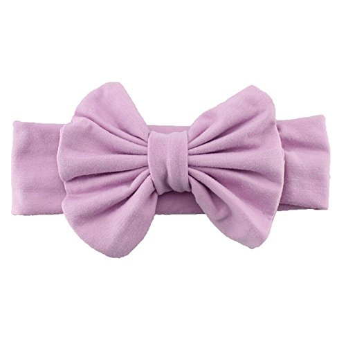bodhi2000® Toddler Girls bebé Kids Big diseño de lazo elástico Turbante Nudo Cabeza Wrap morado morado Talla:talla única