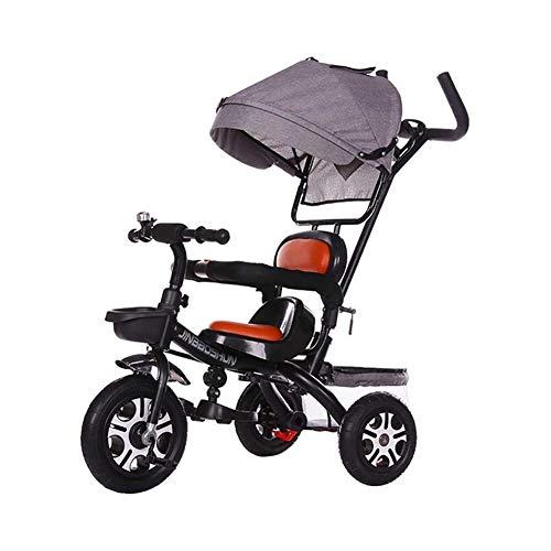 TQJ Cochecito de Bebe Ligero Niños Triciclo 3 En 1 Niños Montar El Triciclo-en La Bici con El Padre del Manillar Canopy Opción del Color De La Carga Máxima De 30 Kg (Color : #2)