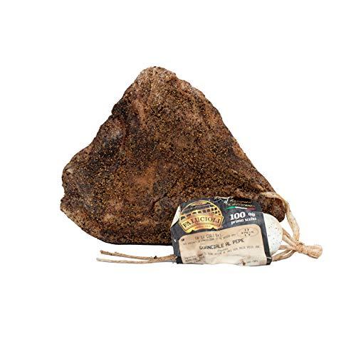 Fa.Lu.Cioli 1917 - Guanciale al pepe 1 kg intero sottovuoto Senza Glutine Prodotto artigianale di Alta qualità Ideale per le tue carbonare