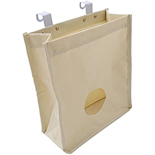 Customer reviews VWH Kitchen Canvas Grocery Bag Holder Trash Garbage Hook Bag Organizer Recycling Containers (white):Kisaran