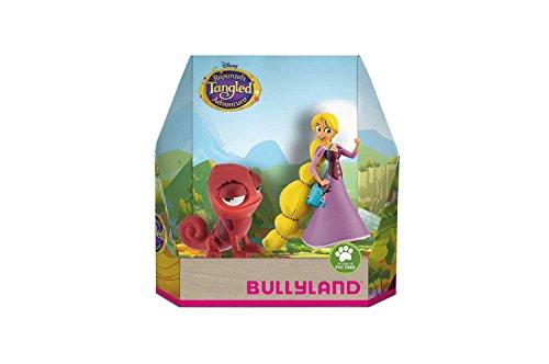 Bullyland 13463 - Spielfigurenset, Walt Disney Rapunzel - Rapunzel und Pascal, liebevoll handbemalte Figuren, PVC-frei, tolles Geschenk für Jungen und Mädchen zum fantasievollen Spielen