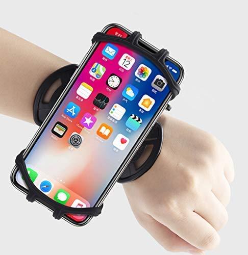 YUE Sports Running Armband, Brazalete del teléfono,Cell Phone Arm Band with Rotación de 360° Universal for 6.5 Pulgadas Las siguientes Smartphone (Negro)