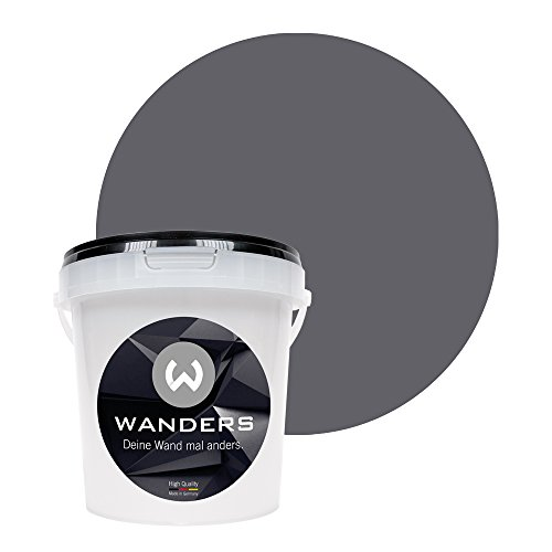 Wanders24 Pintura de pared pintura de pizarra mate (1 litro, Gris grafito) lavable, creativo, escribible, pintura de pizarrón