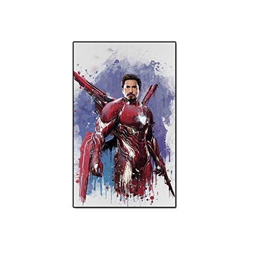 JHGJHK Superhéroe clásico Pintura Abstracta Obras Superhéroe Niño Regalo de cumpleaños Decoración de Pared Pintura al óleo (Imagen 11)