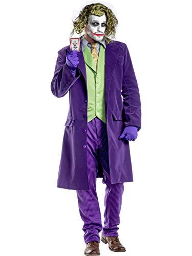 Charades Dark Knight Men's Joker Fancy Dress - Disfraz morado L