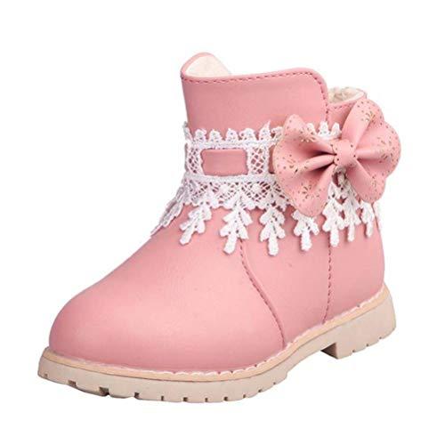 Qianliuk Kinder Winter warme Baumwolle Stiefel mit seitlichem Reißverschluss Jungen Mädchen Mode schwarz rosa Casual Stiefel Kinder Baby Freizeit Schuhe