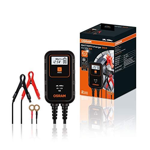 OSRAM BATTERYcharge 904, 4A cargador de baterías y matenimiento de baterías de automóvil de 12 V