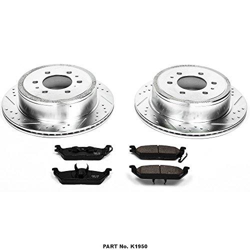 Power Stop K1950 Rear Brake Kit with Drilled/Slotted Brake Rotors and Z23 Evolution Ceramic Brake Pads