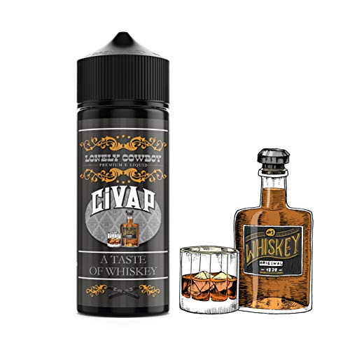 CiVAP e Liquid Shortfill Lonely Cowboy Whisky, 0mg, ohne Nikotin, Vape E Zigaretten, 100ml