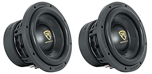 (2) Rockville W10K9D2 10' 6400 Watt Car Audio Subwoofers Dual 2-Ohm Subs