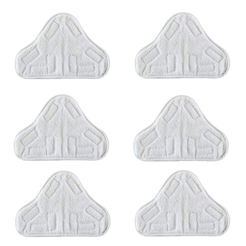 Bluwhale 6 Pack Washable Microfibre Steam Mop Pads Floor Replacement Pads Compatible with H2O H20 X5